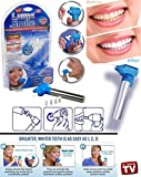 Portable Tooth Polisher Whitener Stain Remover with LED Light Luma Smile Rubber Cups