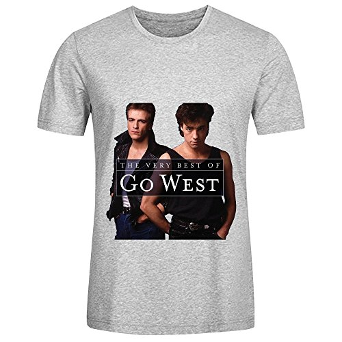 go-west-the-very-best-of-go-west-hits-men-crew-neck-cotton-tee-shirts-grey