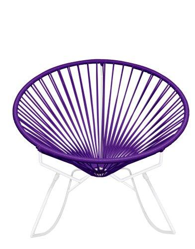 Innit Designs Rocker, Purple Weave on White Frame For Sale