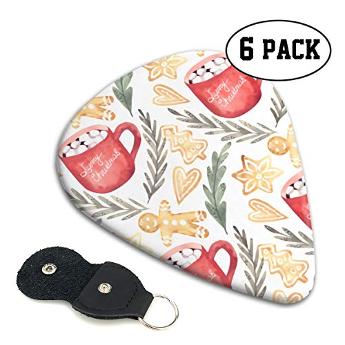 - LXXTK Unique Coffee and Candy Biscuits Celluloid Guitar Pick 6 Pack - Music Gifts for Bass, Electric & Acoustic Guitars