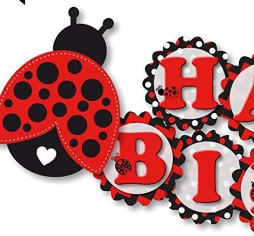 Amazon Ladybug Birthday Banner Party Decoration For Girl