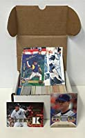 MLB Baseball Card Relic Jersey Autograph Hit Box w/ 300+ Cards & 3 Relic Autograph or Jersey Cards Per Box - Each Box Includes 3 Random RELIC Jersey, Baseball , or Autograph Cards & 1 Sealed Pack. - Box Includes MLB Rookies, Baseball Stars, & MLB Hall-of-