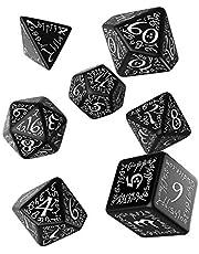 W-Workshop ELF02 - Elvish Dice Black/White (7)
