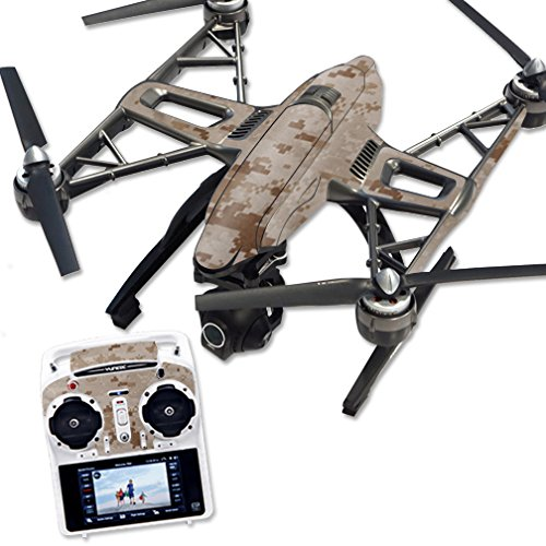 MightySkins Protective Vinyl Skin Decal for Yuneec Q500 & Q500+ Quadcopter Drone wrap Cover Sticker Skins Desert Camo ()