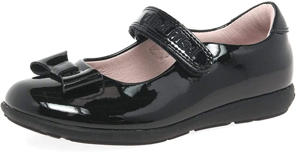 Lelli Kelly Girls School Shoes Perrie LK8226 Black Patent Leather Shoes with Bow