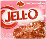 Jell-O Gelatin Dessert, Watermelon, 3-Ounce Boxes (Pack of 24)