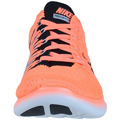 NIKE Mens Free RN Flyknit Running Shoes (11 D(M) US, Bright Mango/Black-Wolf Grey)