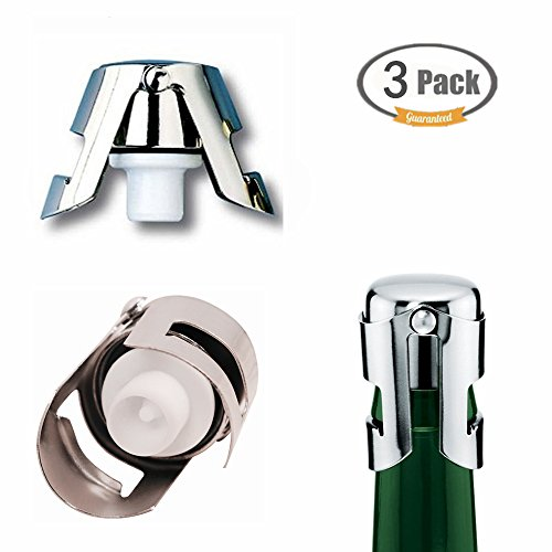 FUNJIA Champagne Bottle Stopper - Super Powerful Vacuum Seal, Set of 3 by FUNJIA