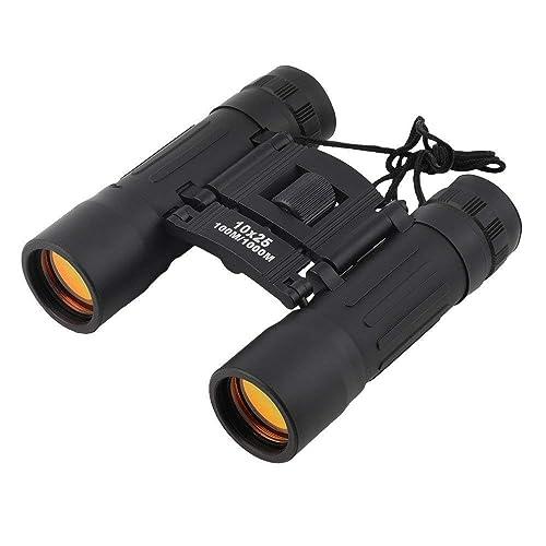 4. Tiny Deal Compact 10x25 Mini Binoculars Telescope Sports Hunting Camping Survival Kit - Black