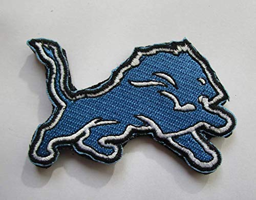 Detroit Lions Applique - National Football League Detroit Lions Logo Military Patch Fabric Embroidered Badges Patch Tactical Stickers for Clothes with Hook & Loop
