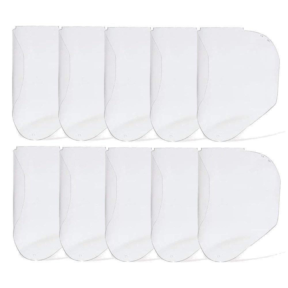 Uvex Polycarbonate Clear Bionic Replace Visor Shield (10 Per Box) by Honeywell