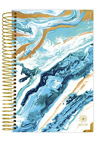 "bloom daily planners 2017-18 HARD COVER Academic Year Daily Planner - Passion/Goal Organizer - Monthly Datebook and Calendar - August 2017 - July 2018 - 6"" x 8.25"" - Geode"