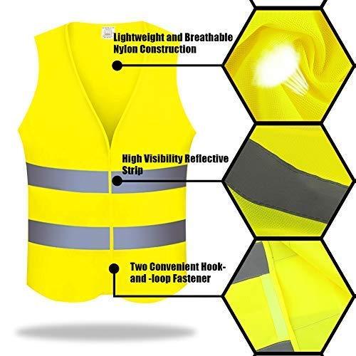 RenFox Gilet de S/écurit/é Haute 2 Pack Visibilit/é Gilet Securite Adulte Unisexe