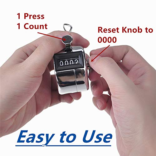 Q-Connect Chrome Tally Counter