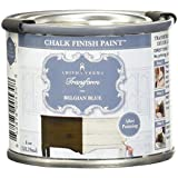Amitha Verma Chalk Finish Paint, No Prep, One Coat, Fast Drying | DIY Makeover for Cabinets, Furniture & More, 4 Ounce, (Belgian Blue)