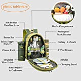 ALLCAMP 2 Person Blue Picnic Backpack Hamper with