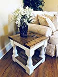 Farmhouse Coffee Table and End Tables Rustic Wooden Farmhouse End Table by Mountain Creek Woodworks (Provincial)