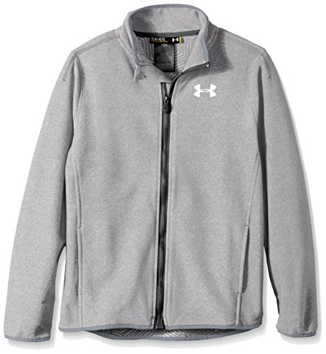 Under Armour Boys' ColdGear Infrared Performance Fleece Jacket, Steel/Black, Youth (Under Armour Performance Fleece)