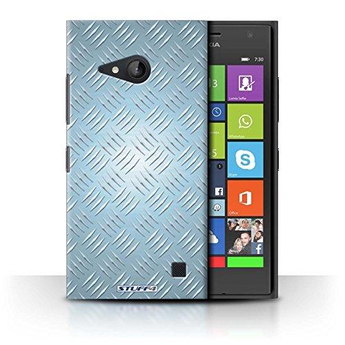 Coque de Stuff4 / Coque pour Nokia Lumia 730 / Bleu Design / Motif en Métal en Relief Collection