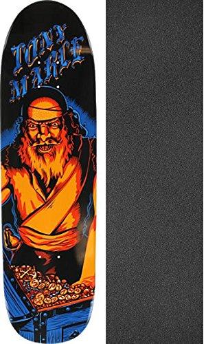 ゴネリル練習分離するShipyard Skates Marle Treasure Hunt Old School スケートボードデッキ - 8.6インチ x 32インチ Jessupグリップテープ付き - 2アイテムセット
