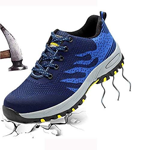 Prova Tappo Di Sneakers Hiker Perforazione Intersuola Lavoro Per Punta Sicurezza Impermeabile Blue Acciaio Donne Protezione E Kangle Uomini Caviglia Formatori In Scarpe UR6wWq5Hpv