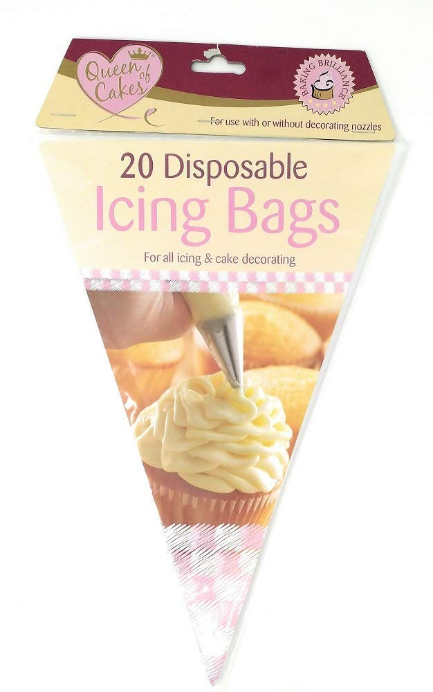 """UK 100Pcs 13.7/"""" Plastic Disposable Icing Piping Cake Decorating Pastry Bags New"""