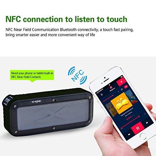 portable waterproof bluetooth speaker outdoor nfc wireless speakers for ipho. Black Bedroom Furniture Sets. Home Design Ideas