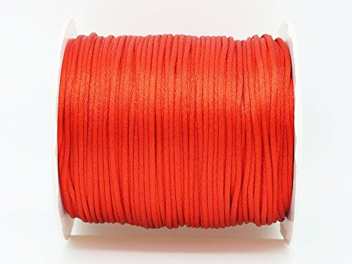 RED 1mm Bugtail Satin Cord Shamballa Macrame Beading Nylon Kumihimo String (210ft Spool)