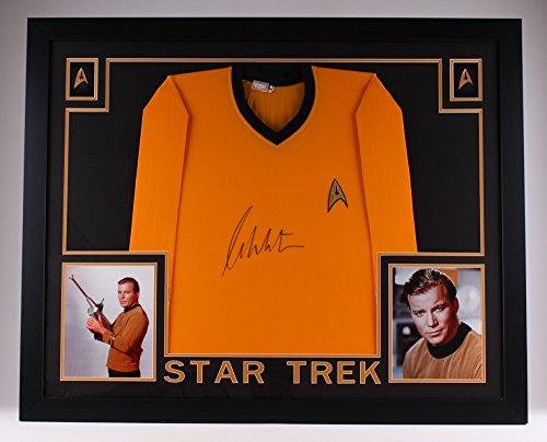 William Shatner Signed Star Trek 35″ x 43″ Custom Framed Uniform (JSA COA)