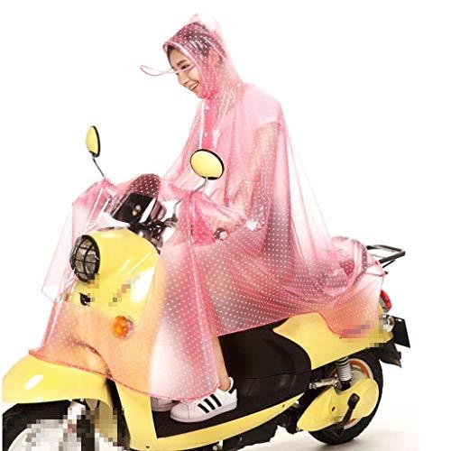 Transparent Veste Bord Et Capuche Des Vêtements Chics Femmes Mode Moto Imperméable En La De 4 Solides Couleurs Plein Air Pluie À 4qt4r