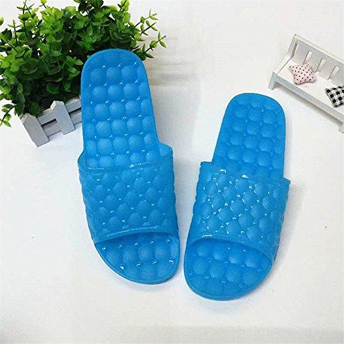 YMFIE Zapatillas de baño Color Cubierta Exterior Antideslizante Zapatillas C