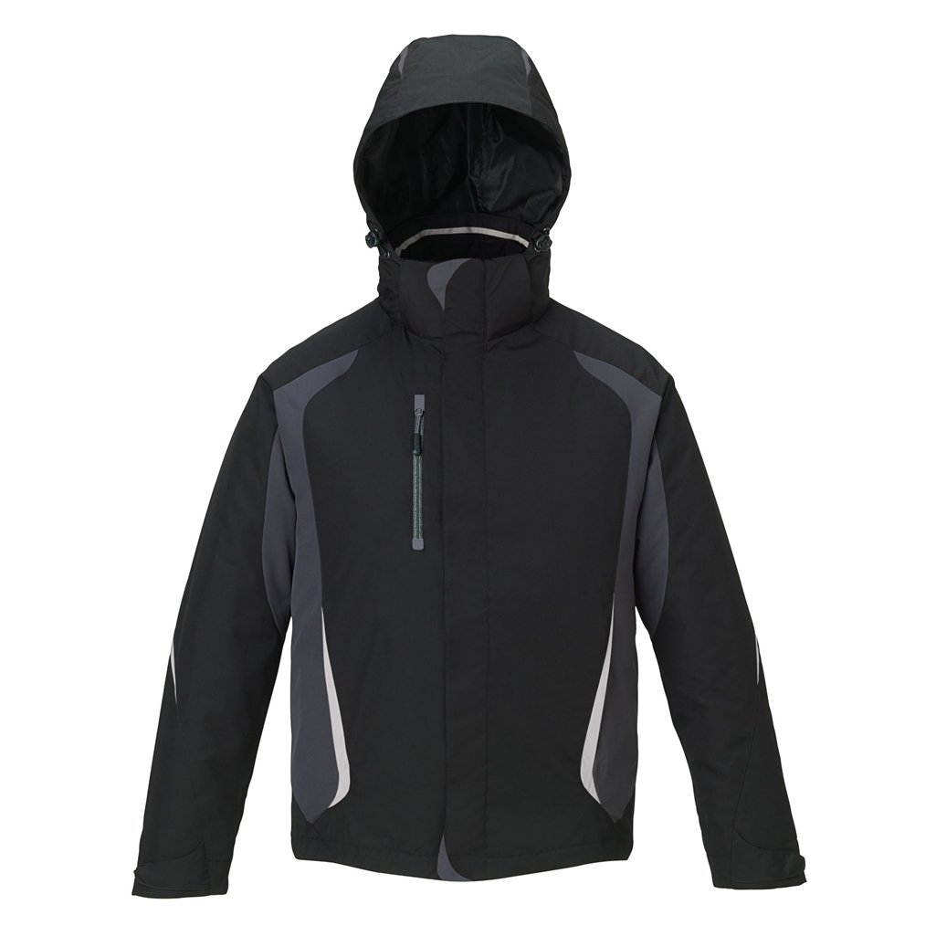 Ash City Mens Height 3 in 1 Jacket (Small, Black)