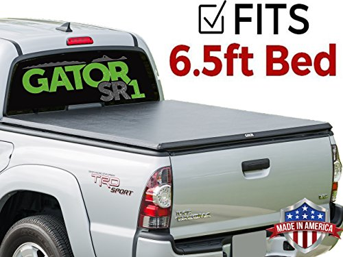 Tundra Deck Rail - Gator SR1 Roll Up (fits) 2014-2018 Toyota Tundra 6.5 Foot Bed Only w/Deck Rail System Premier Soft Roll Up Tonneau Truck Bed Cover (55509) Made in the USA