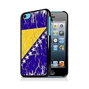Bosnia & Herzegovina Weathered Flag Apple iPhone 5C Black Cell Phone Case