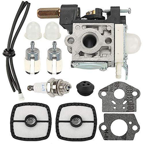 Butom RB-K70A SRM 230 Carburetor for Echo RB-K70 SRM-230 SRM-230S SRM-230U SRM-231 SRM-231S SRM-231U GT-230 GT-231 PE-230 PE-231 Weed Eater Trimmer with Air Filter Tune Up Kit