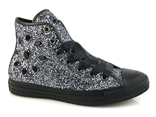 Converse - Zapatillas de Lona para mujer plateado plateado *