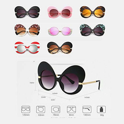lunettes Inlefen femmes soleil lunettes Mode lunettes Oversize Butterfly Cat Frame Eye de de C12 soleil RnORHaA