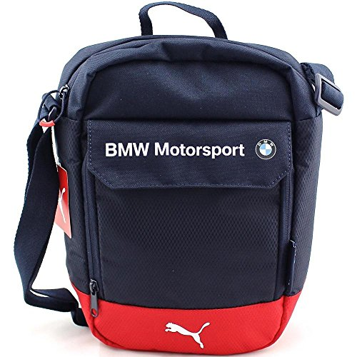 Puma Bmw Motorsport 074271, Borsa a spalla uomo Blu Bleu (Team Blue/High Risk Red) Taille Unique