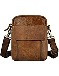 Leaokuu Men Leather Casual Fashion Messenger Shoulder Bag Waist Belt Pack 2074