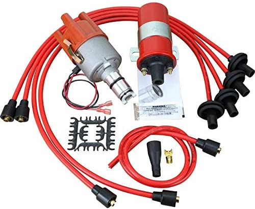 Plug Wire Set High Output Coil for 1953-1979 VW Beetle Thing Ghia Bus Oem Fit Kit-VW009 DRAGON FIRE Performance Electronic Ignition Upgrade Kit Distributor