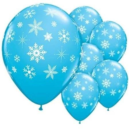 25 x Dkbees de copo de nieve diseño de látex azul globos ...
