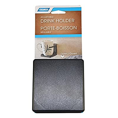 Camco Adjustable Drink Holder- Can Hold Mugs, Large Drinks and Almost Any Size Bottle or Can, Make Great Extra Cupholders for Cars, Trucks, RVs, Vans, Boats and Much More - Black (44044): Automotive