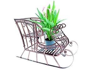 Schlitten Pflanzenregal Blumenregal Ständer Ablage Gartenregal Pflangenablage
