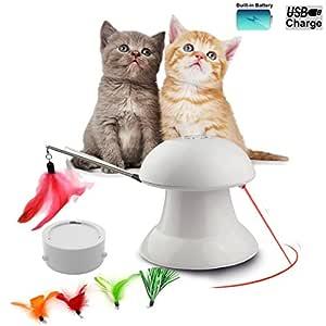 FIRIK Juguete de Gato Interactivo Automático de Luz de ...
