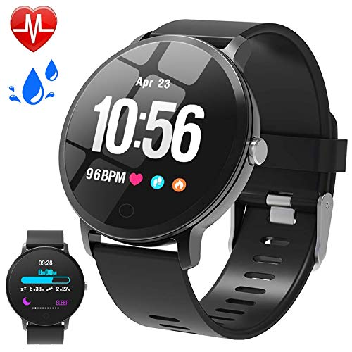 (Fitness Tracker Sport Watch for Men, Activity Tracker with Blood Pressure Heart Rate Monitor, Waterproof Smart Watch Pedometer Calorie Counter Summer Outdoor Smartwatch for Fathers Day Gifts)