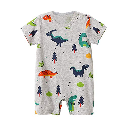 Beal Shopping Newborn Infant Baby Girl Boy Lovely Cartoon Dinosaur Romper Jumpsuit Outfits Baby Clothes Bodysuit