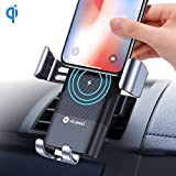VICSEED Wireless Charger Car Mount, Qi Fast Wireless Car Charger, Auto-Clamping Car Vent Cell Phone Holder, 10W Compatible with Note 9 Note 8 S9 S9 Plus S8 S8+, 7.5W for Xs Max Xs Xr X 8 8 Plus