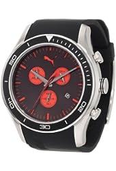 PUMA Men's PU102651001 Ride XL Chronograph Black and Red Watch