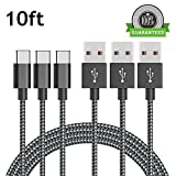 zte battery charger - Type C Cable 3 Pack 10FT, Asstar Nylon Braided Cord for ZTE Zmax Pro Z981 New Macbook Pixel XL Nexus 5X 6P LG G5 G6 V20 Nintendo Switch and More