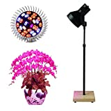 Full Spectrum Led Grow Light 40W Grow Lamp Stand Desk with Adjustable Height for Hydroponic Indoor Plants Veg and Flower